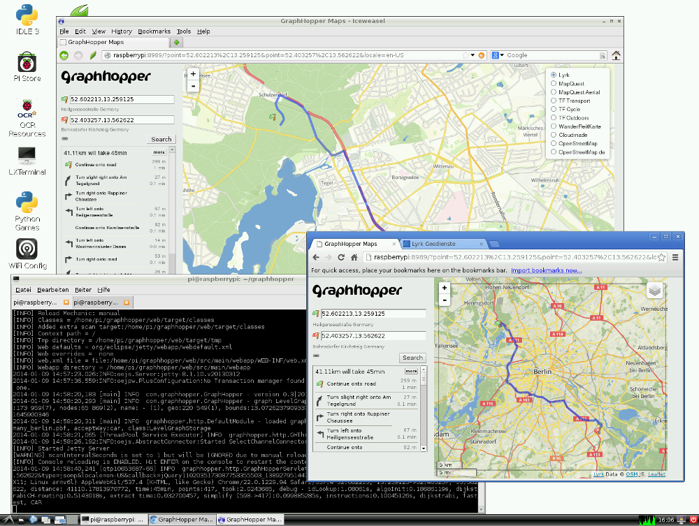 Driving Directions with GraphHopper and Java on Raspberry Pi | Karussell